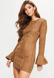 tan suede dress oasis amor fashion