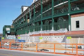 wrigley field remodel wrigley field renovation has caused wrigley field construction update march 11 bleed cubbie blue