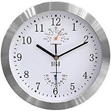 wall watch amazon com hito silent non ticking wall clock aluminum frame glass