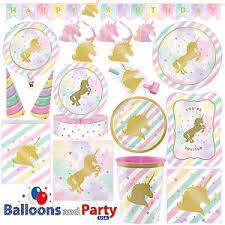 unicorn party supplies unicorn sparkle pony girl s birthday party tableware decorations