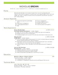 Simple Basic Resume Cerescoffee Co Best Resume Samples Template No2powerblasts Com