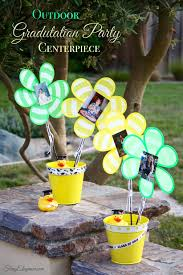outdoor graduation party centerpiece frugelegance