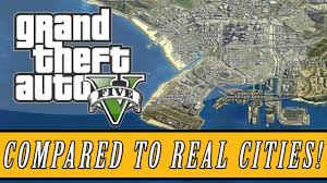 Real World Map Grand Theft Auto 5 Los Santos Map Size Compared To Real Life