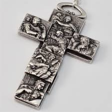 vatican rosary vatican museums silver plated rosary style 1m5059