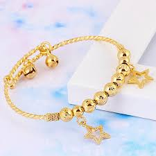 yellow bangle bracelet images Baby children 39 s jewellery 18k yellow gold filled gf charm ball jpg