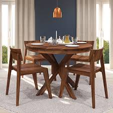 4 seater dining table with bench liana oribi 4 seater round dining table set urban ladder