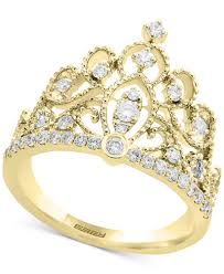 gold crown rings images D 39 oro by effy diamond crown statement ring 3 8 ct t w in 14k tif