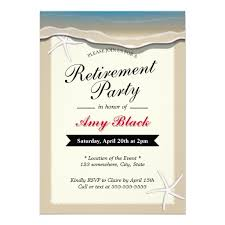 retirement party invitations theme starfish retirement party invitation retirement