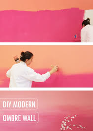 this modern pink pagoda and coral coralette diy modern ombre wall