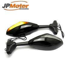 glasses with lights on the side motorcycle led turn signal light indicator side mirrors for cruiser