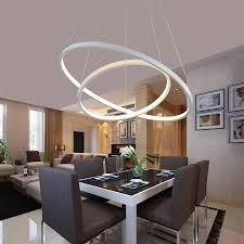 modern hanging lights for dining room modern acrylic rings pendant lights for dining room ac 90 260v