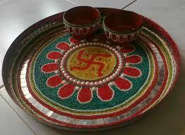 How To Make A Decorative - how to make a decorative pooja youtube how diwali thali decoration