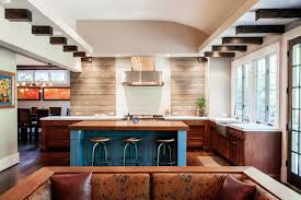 kitchen cream stained wooden horizontal beadboard backsplash