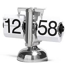 mechanical desk clock amazon com betus retro style flip desk shelf clock classic