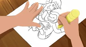 image curious george 4 troy u0027s hand drawing scene png curious