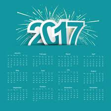 2017 calendar with fireworks vector free download