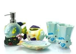 new mediterranean style underwater world sea fish bath accessory