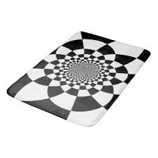 black and white checkered bath mats u0026 rugs zazzle