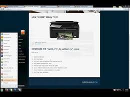 reset manual tx121 how to reset epson tx121 printer youtube