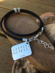 leather bracelet with sterling silver images Personalised leather bracelet with sterling silver for men or jpg