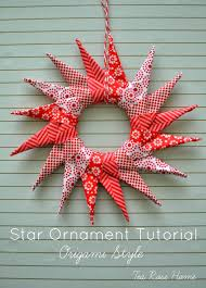 tea rose home tutorial star ornament with music fabric this