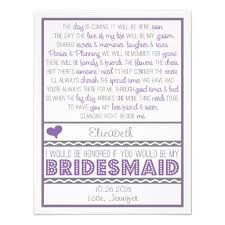 will you be my bridesmaid poems personalized bridesmaid poem invitations custominvitations4u