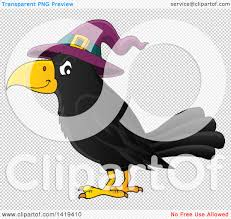 halloween clip art with transparent background clipart of a halloween crow bird wearing a witch hat royalty
