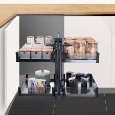 tempered glass shelves for kitchen cabinets cabinet corner pull out small basket built in tempered glass drawer shelf