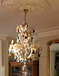 Multi Coloured Chandeliers 10 Arm Large Therese Chandelier With Multi Coloured Droplets