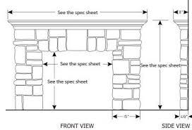 Standard Fireplace Dimensions by Elk Ridge Cast Stone Fireplace Mantel Stone Mantle Mantels