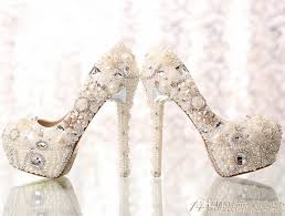 wedding shoes for wide hot sale pearls wedding shoes for crystals high heels