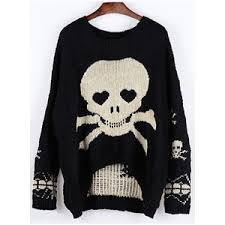 skull sweater sweaters polyvore
