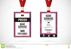 press id card set vector design illustration stock vector image