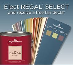 benjamin moore paints elect regal select and get a free fan deck
