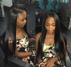 black hair weave part in the middle side part sew in bømb ass hair pinterest hair style