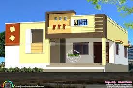 box type single floor house home design simple