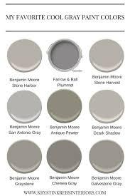 cool gray paint colors my favorite cool gray paint colors krystin krebs
