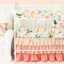 Baby Bedding Set Coral Crib Bedding Baby Bedding Caden