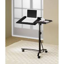 adjustable laptop desk stand desks laptop computer stand with adjustable swivel top and casters