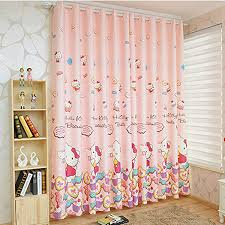 Pink Nursery Curtains Pink Cats Blackout Nursery Curtains