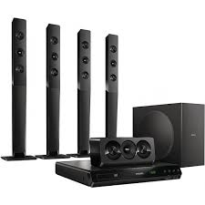 Buy Philips Hts5520 94 5 1 Dvd Home Theatre System Online At Best - philips home theatre systems price list in india on 19 may 2018