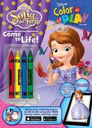 disney sofia color u0026 play crayon coloring u0026 activity