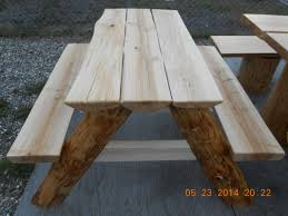 tables made from logs small log picnic four little carpenters company