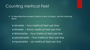 poetry meter and rhyme ppt video online download