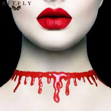 Halloween Day Decoration Aliexpress Com Buy Red Halloween Bloody Neck Scary Horror Blood