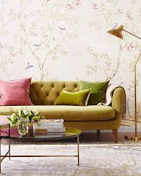 Livingroom Wallpaper Peel Off Easy To Remove Wallpaper Martha Stewart