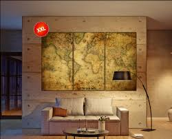 World Map Canvas Old World Map Canvas Wall Art Print Prints On Canvas Old World Map