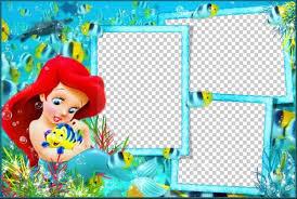 childs photo frame mermaid free photo frame psd free