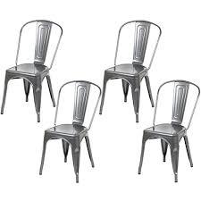 Grey Bistro Chairs Hartleys Industrial Design Cafe Bistro Chairs Gunmetal Grey