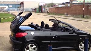 perso car peugeot 206 cc taking down the roof youtube